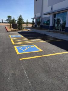 handicap and crosswalk striping Phoenix AZ