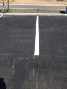 Painted parking lot line in Phoenix Arizona