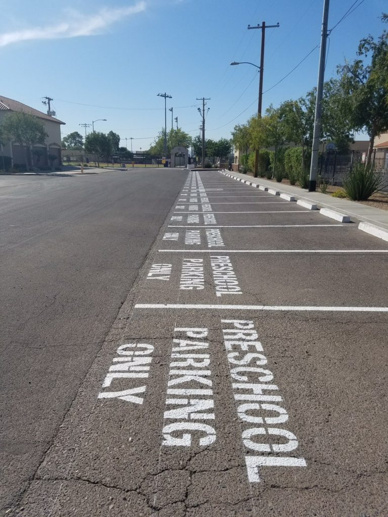 Parking Lot striping stencils